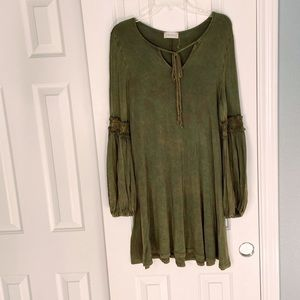 Army green altar'd state dress